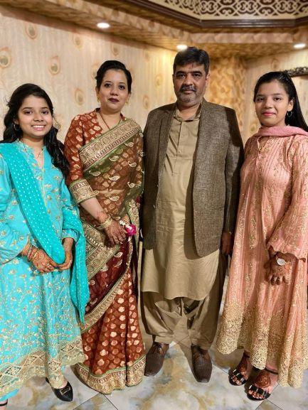 Imran A. Khan and Erum Imran with their lovely daughters Zoya Imran and Zara Imran