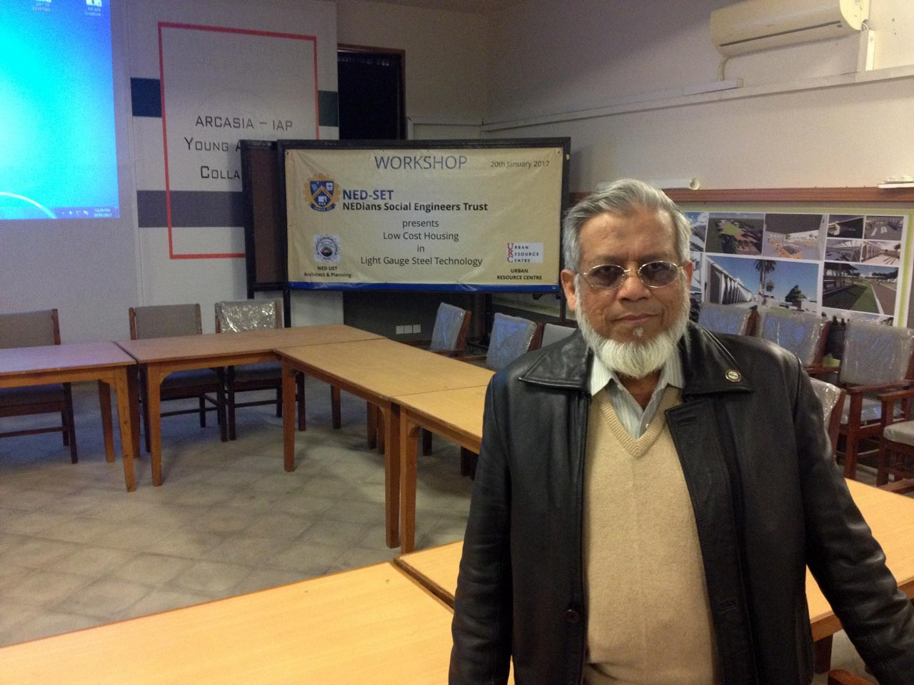 Engr. Iqbal Ahmed Khan in the Conference Room