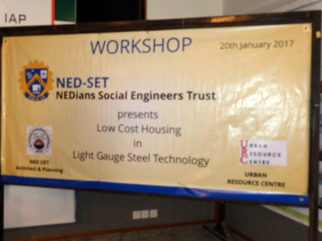 The banner for the NED-SET Workshop