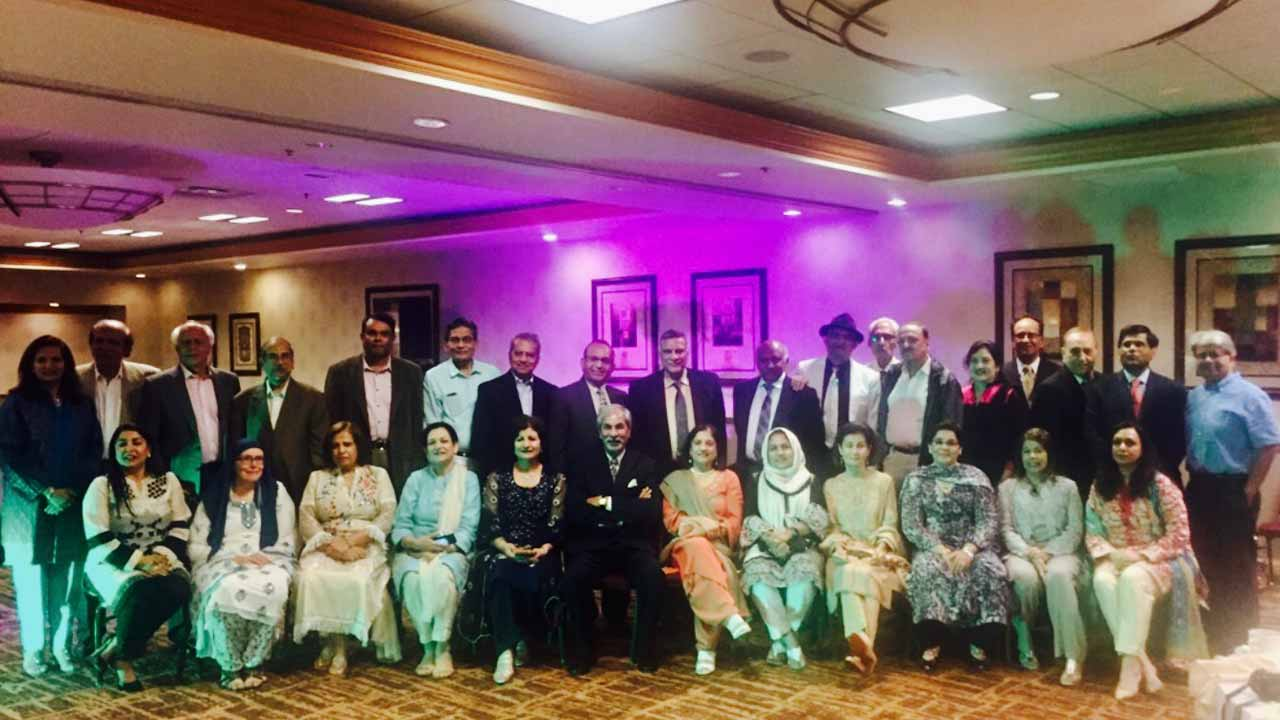 Pervez Randhawa in the centre as all the ladies gave him respect to sit in the middle with respect to his late wife Mrs. Atiqa Pervez Randhawa who recently passed away.