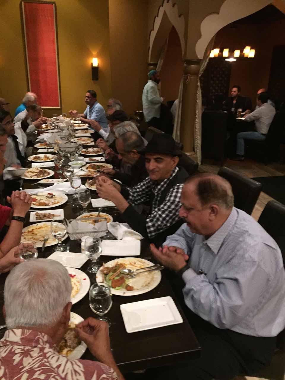 All NED69ers are enjoying the dinner