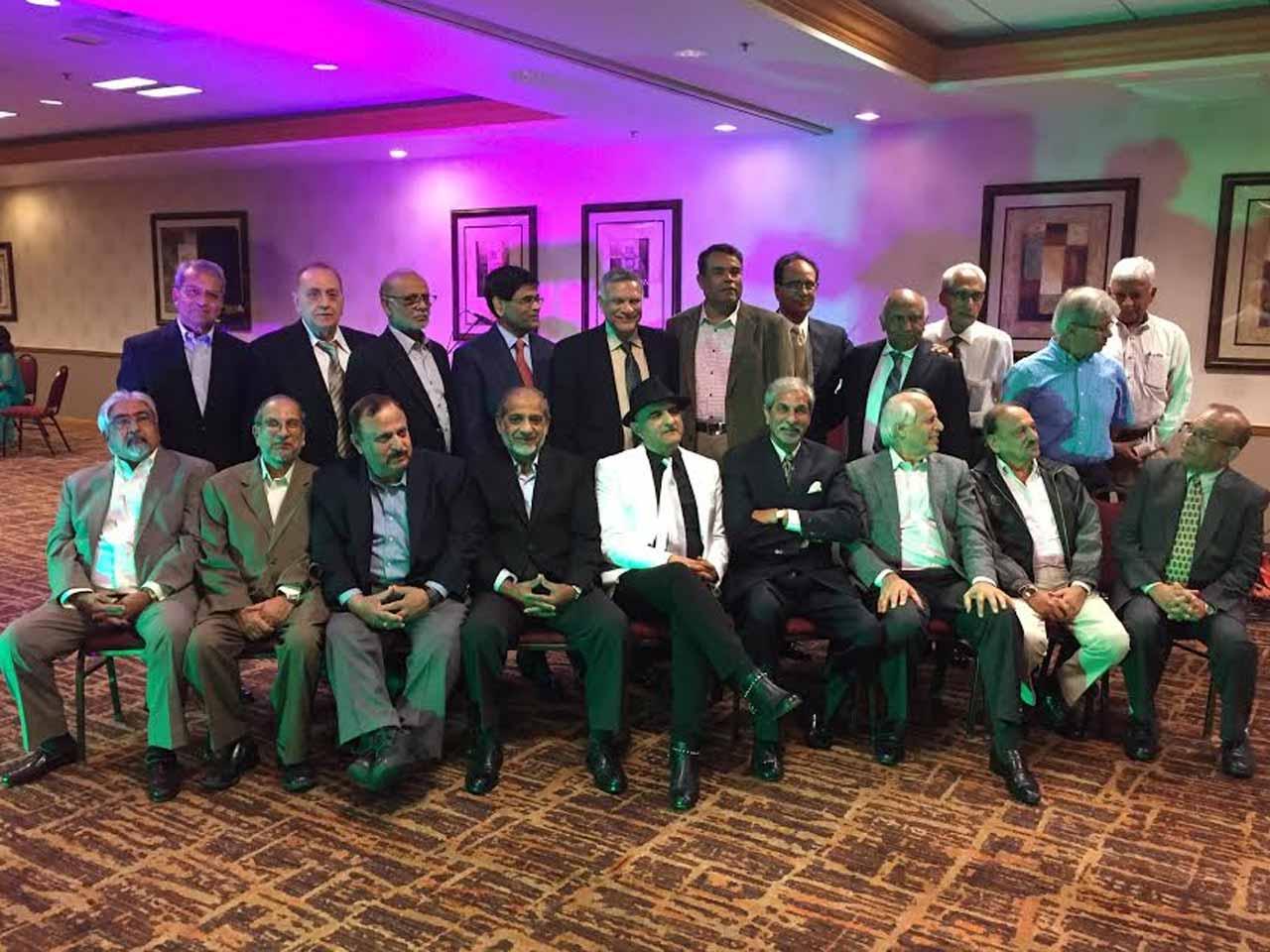 Sitting L to R: Khalid Razzaki, Hamid Ul Haque, Suhail Qureshi, Khalid Mushtaq, Ashraf Habibullah, Pervez Randha, Shahnawaz, Umar, Irshad - Standing : Tariq, Asif, Wajahat, Shakeel, Majid, Jawaid, Iqbal, Rahib, Adeel, Moin