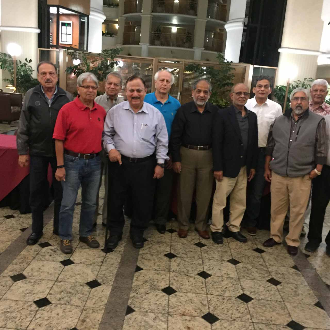 Umar Vawda, Adeel Lari, Tariq Siddiqui, Suhail Qureshi, Shahnawaz Ahmad, Khalid Mushtaq, M. Wajahat Siddiqui, Shamshad Ahmed, Khalid Razzaki, Moin Khan