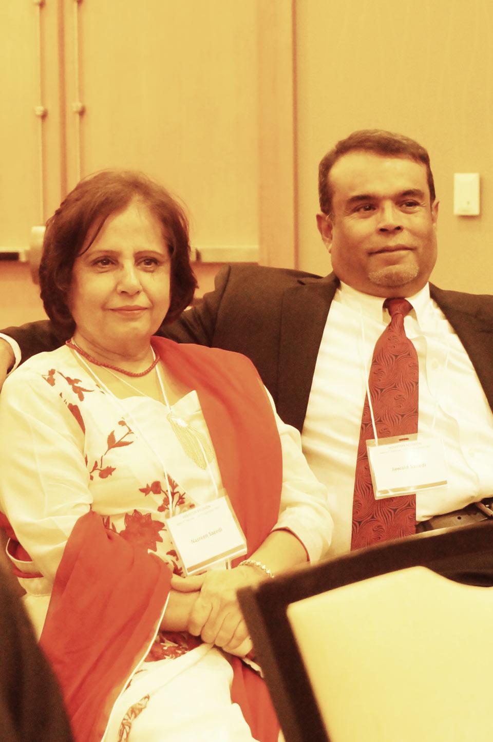 Mrs. Nasreen Jawaid and Engr. Jawaid Saeedi