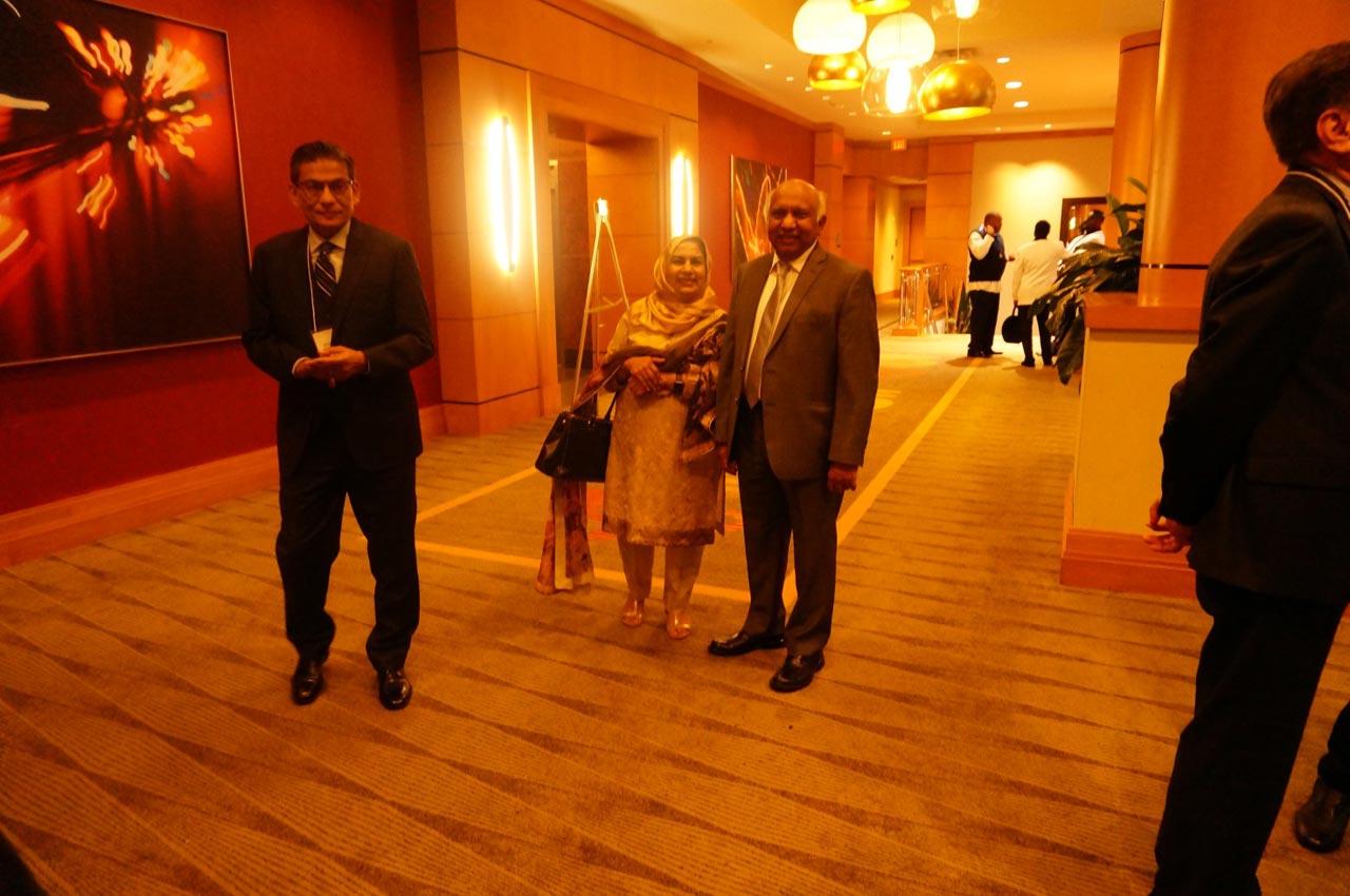 Engr. Shamshad Ahmed, Mrs. Sabra Iqbal, Engr. Dr. Iqbal Suharwardy