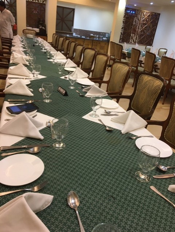 Dining Table is all set for NED69ers guests