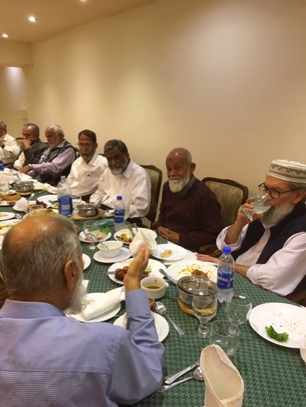 Engr. Khalid Iqbal is explaining something important to Engr. Babar Ghaznavi rest all are listening