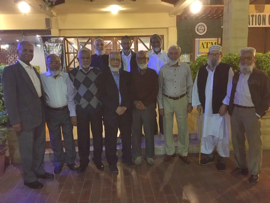 Mohammad Afzal, Iqbal Ahmed Khan, Rahmatullah Ganaai, Khalid Iqbal, Sharif Ur Rehman Malik, Aqleem Aleem, Babar Ghaznavi, Hasan Habib Imdadi, on the back, Syed Zafar Ahmad, Tariq Said Bukhari, Mohammad Mahtab Alam Khan