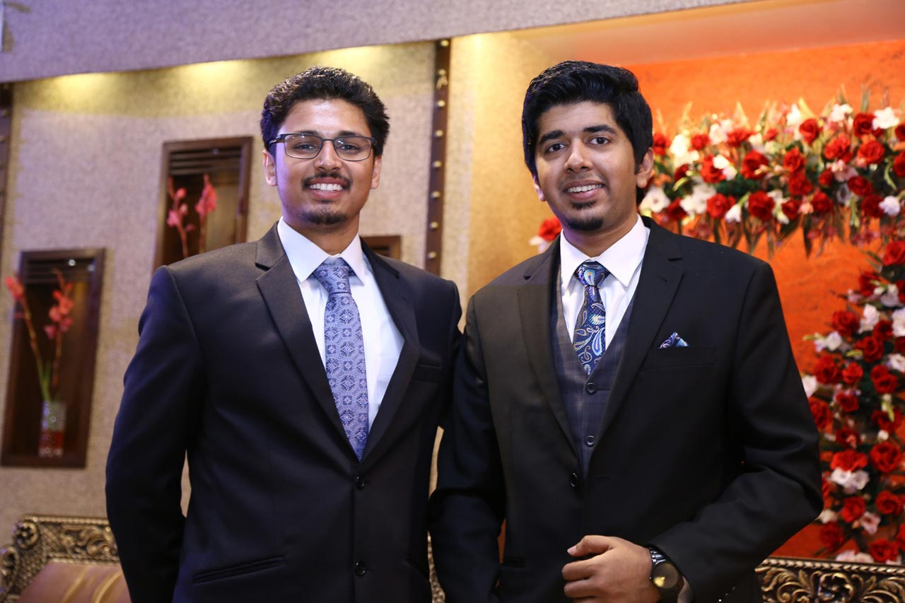 Mustafa Sattar from Canada with the groom Umair A. Hameed