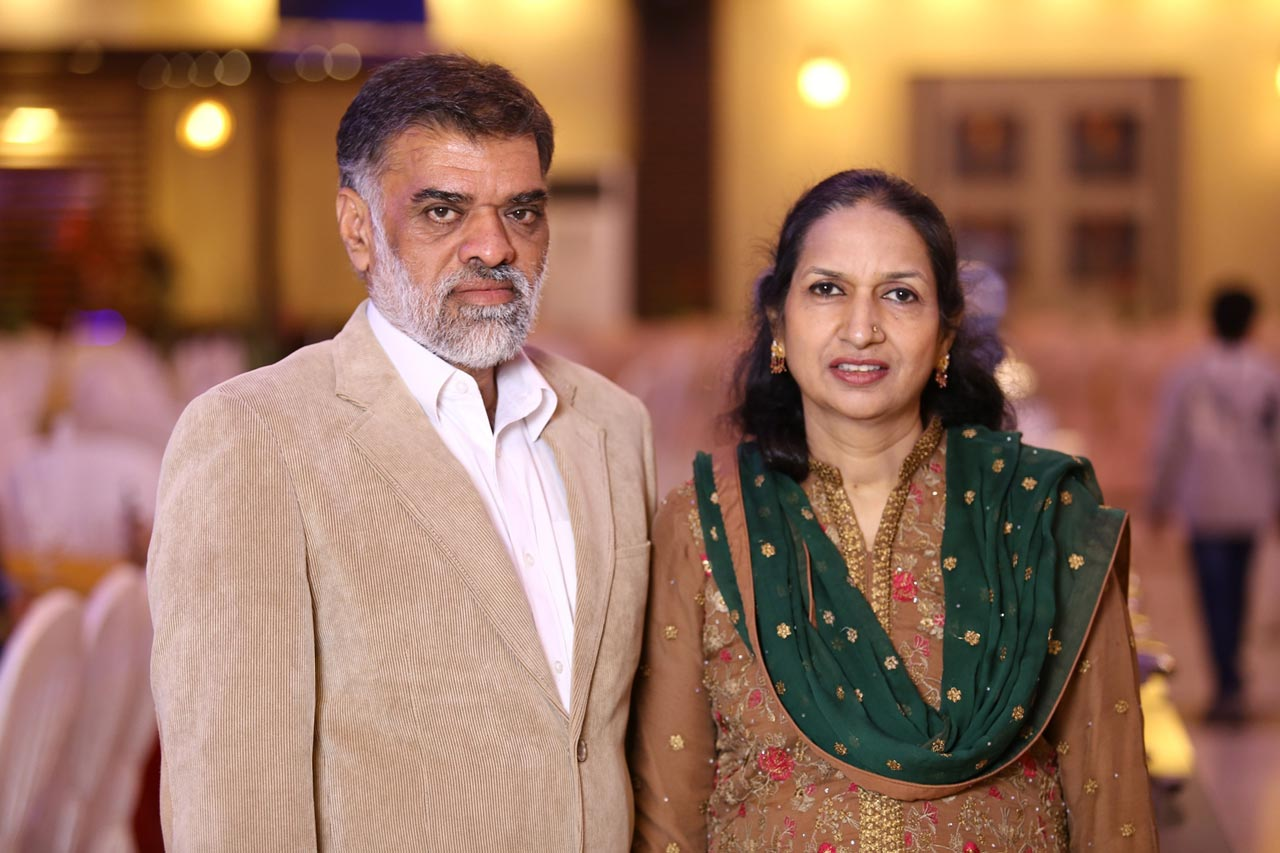 The Groom's parents - Abdul Hameed Khan and Shabana A. Hameed
