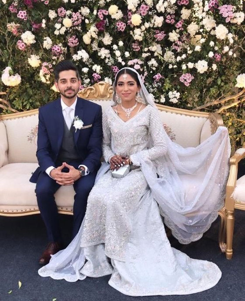 The bride Fiza Liaqat and the groom Osama Qureshi