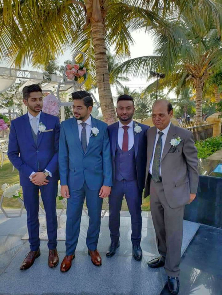 Osama Qureshi (Groom), Bilal Qureshi (Osama's elder brother), Aslan Ahmed (Brother in law of Osama), Mr. Muhammad Nafees Qureshi (Father of Osama)