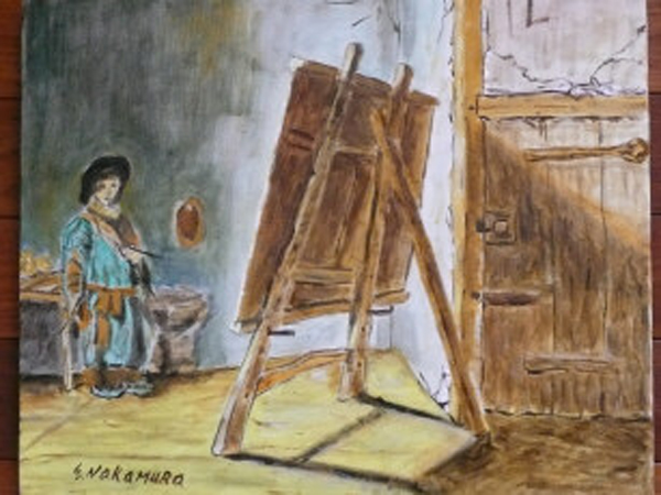 Reproduction of a painting by a world-famous artist.