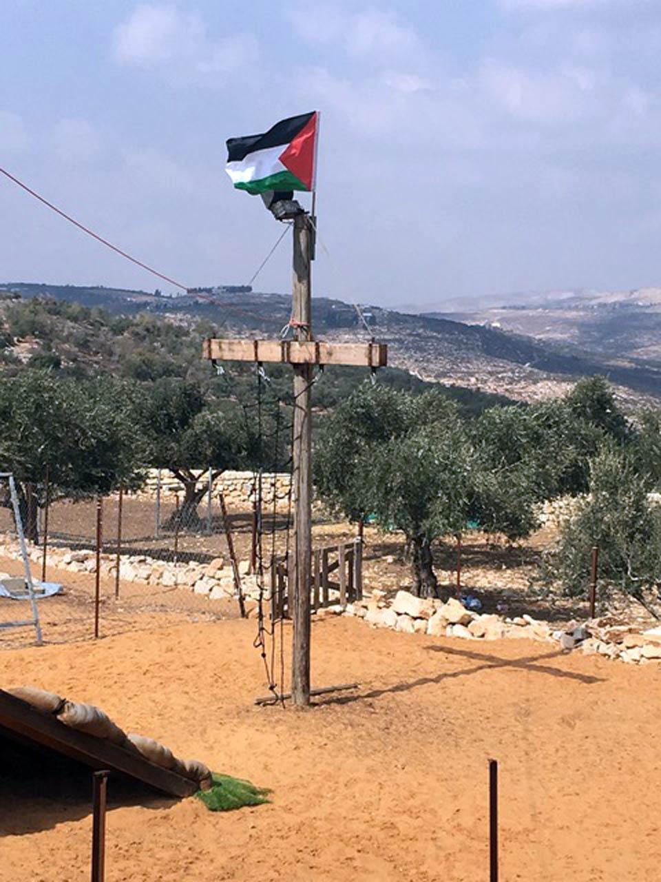 Olive Harvest Festival, playground at Daily Hugz, Asira al-Shimaliyah, Palestine.