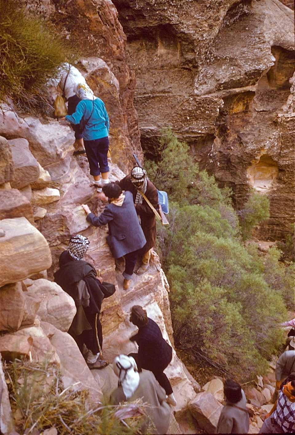 Climbing to reach the Ad-Deir
