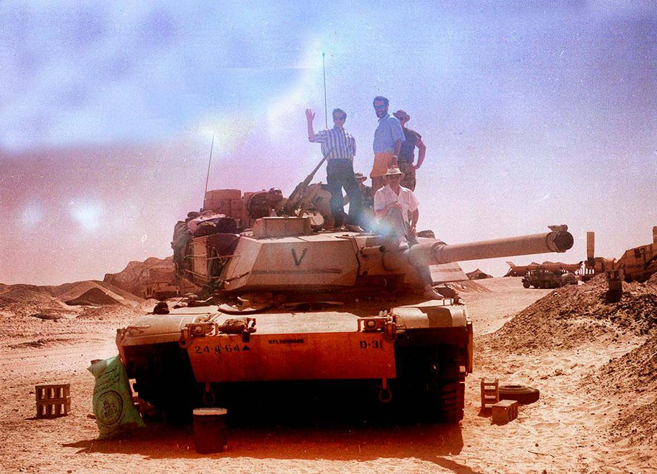 On Abrams Tank near Khursaniyah during Desert Shield, October 1990