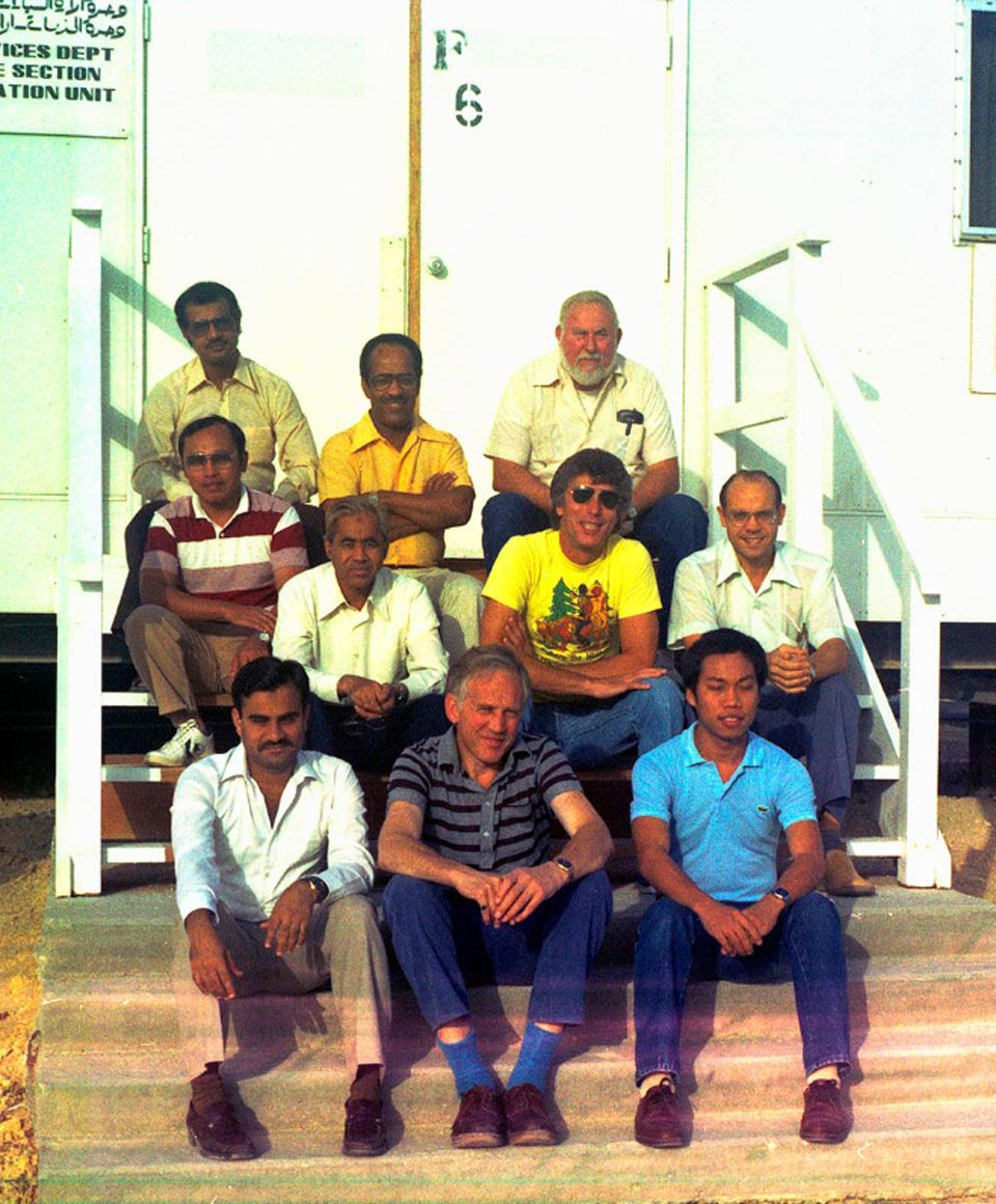 Northern Area Projects, Offshore Platform & Pipelines, Material Requisition Control Unit, Outside Bldg. #6, Dhahran North Camp around 1984
