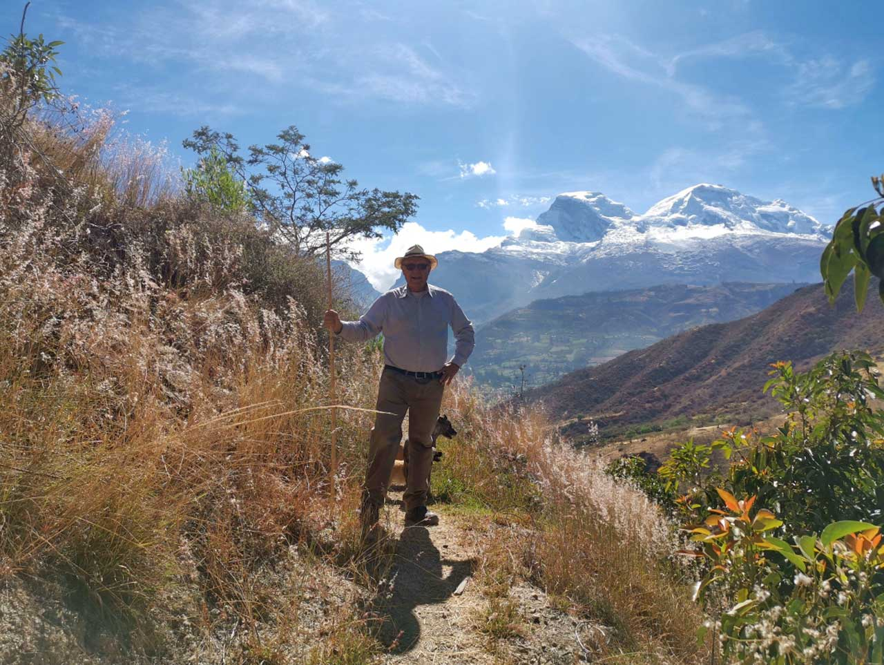Philip Krebs near his house in the Peruvian Andes, July 2019