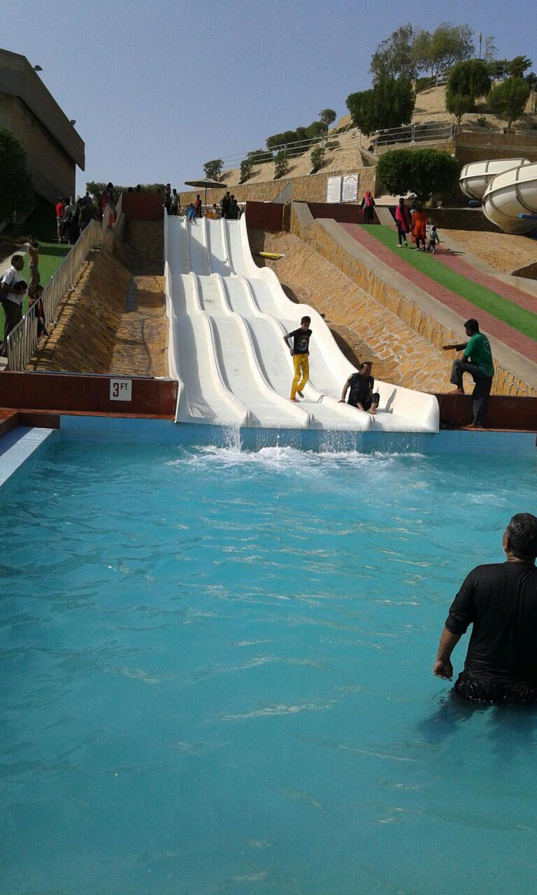 The kids are enjoying at water slides