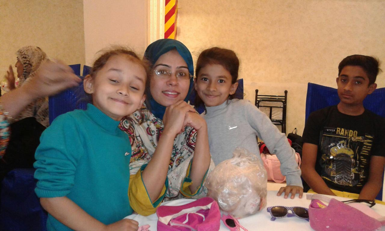 Tania Imran with her kids