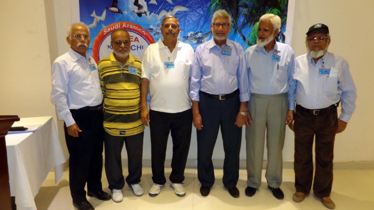 Shafiq A. Khan, Mohammad Abdul Matin, Arif Qamar, Muhammad Salim Hamid, Kamal A. Farooqi, Engr. Iqbal Ahmed Khan