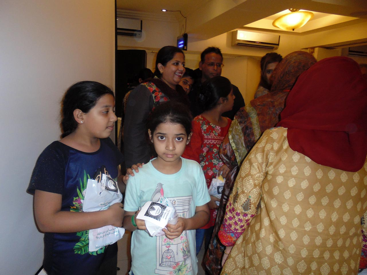 Zoya Imran, Zara Imran after receiving their gifts from the President SAEEA.