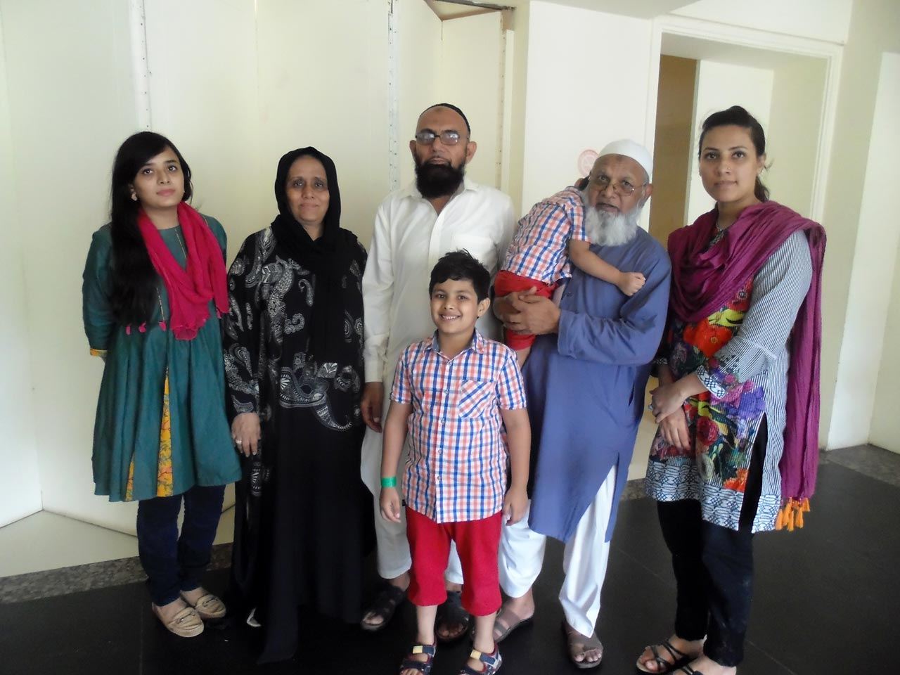 Atauddin Qureshi with his family members