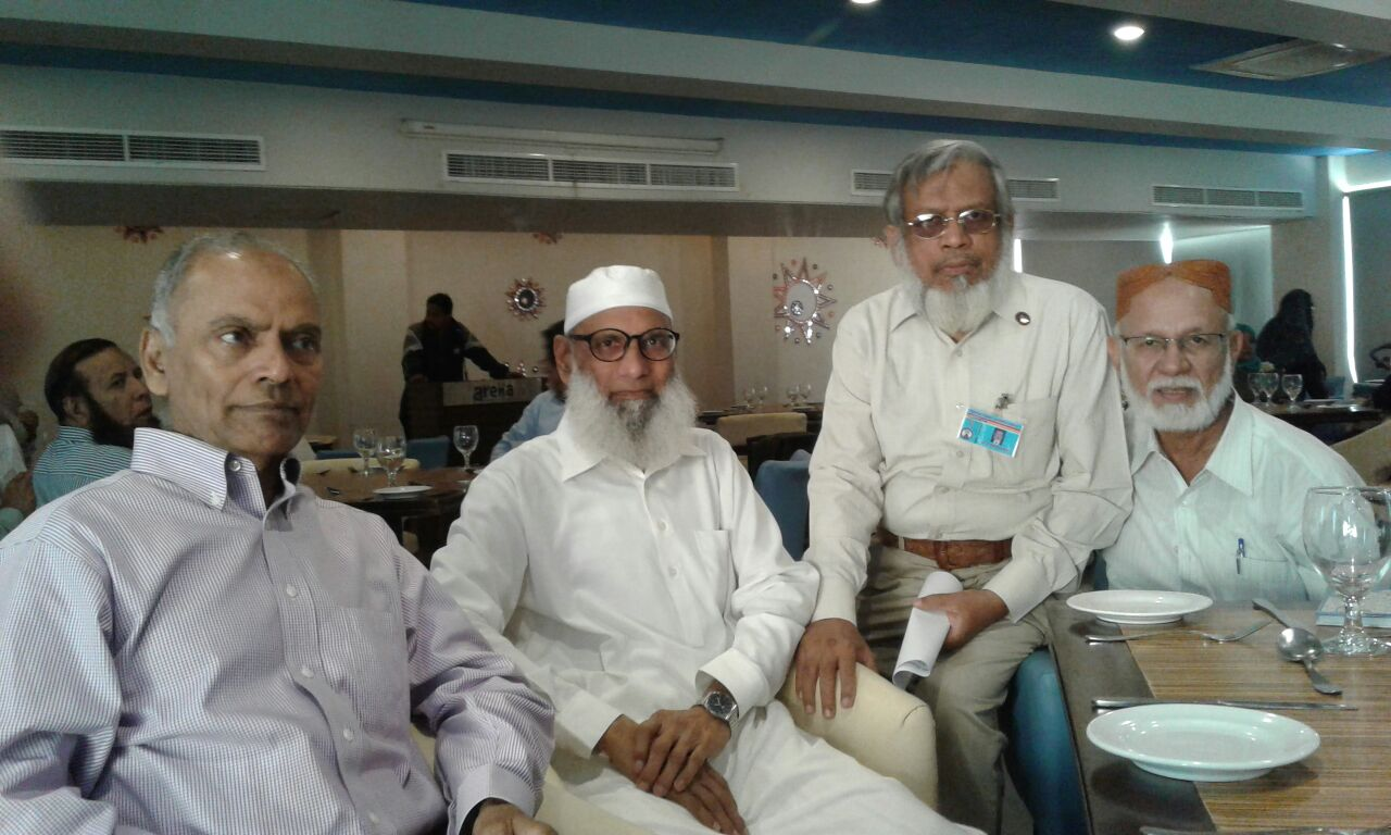 Four old time friends: Engr. Mohammed Ahmed, Salimullah Hussain, Engr. Iqbal Ahmed Khan, Engr. SW Fakhri
