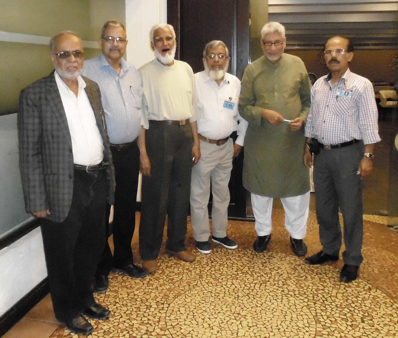 A group of SAEEA Office Bearers : Mohammed Abdul Matin, Arif Qamar, Kamal A. Farooqi, Engr. Iqbal A. Khan, Muhammed Salim Hamid, Shafiq A. Khan