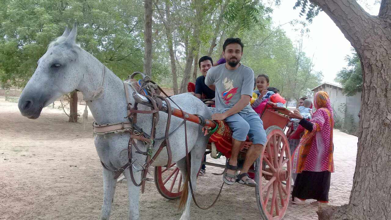 "Shabeel Khan is enjoying the ""Tanga"" ride along with his family members"