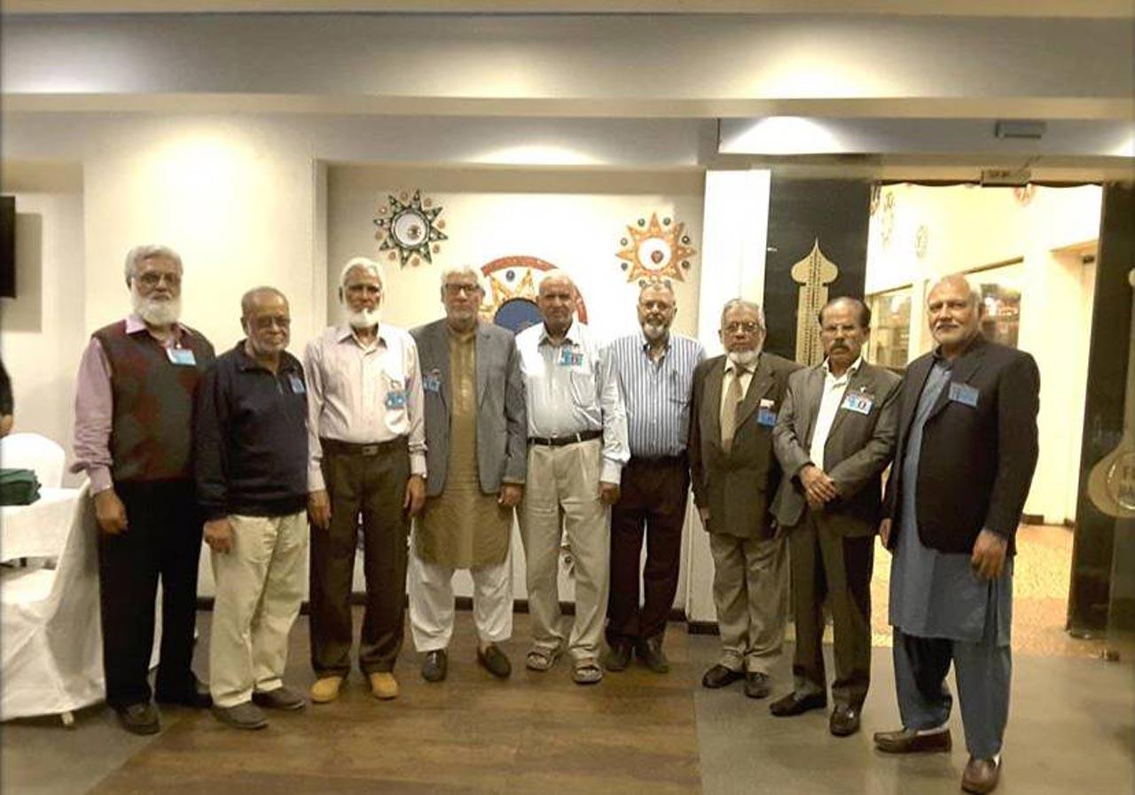 Jamil Shaikh,  M. Abdul Matin, Kamal A. Farooqi, Ghulam Qutubuddin Khan, Arif Qamar, Engr. Iqbal A. Khan, Shafiq A. Khan, Syed Shabbar Hasan Abidi