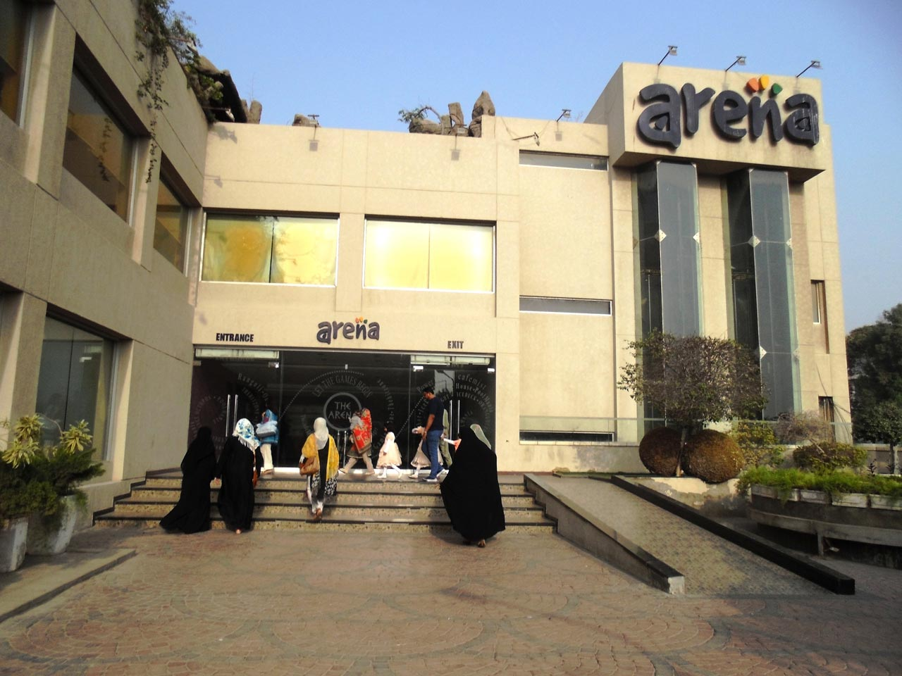 An outside view from Arena Club