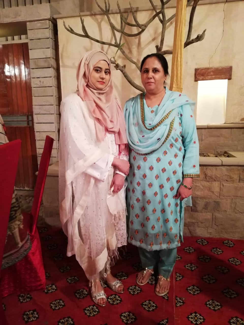 Ghazala Khanam and Sadia Fatima , Engr. Iqbal Khan's guests came from Aligarh UP India