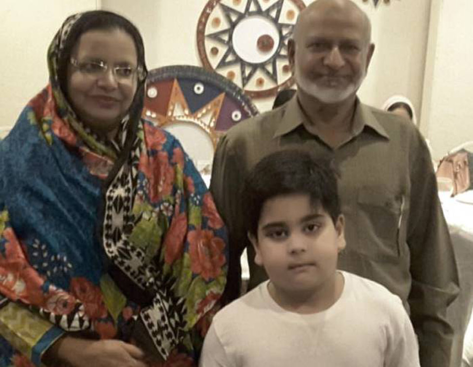 Mr. & Mrs. Mohammad Yousuf with their grand son