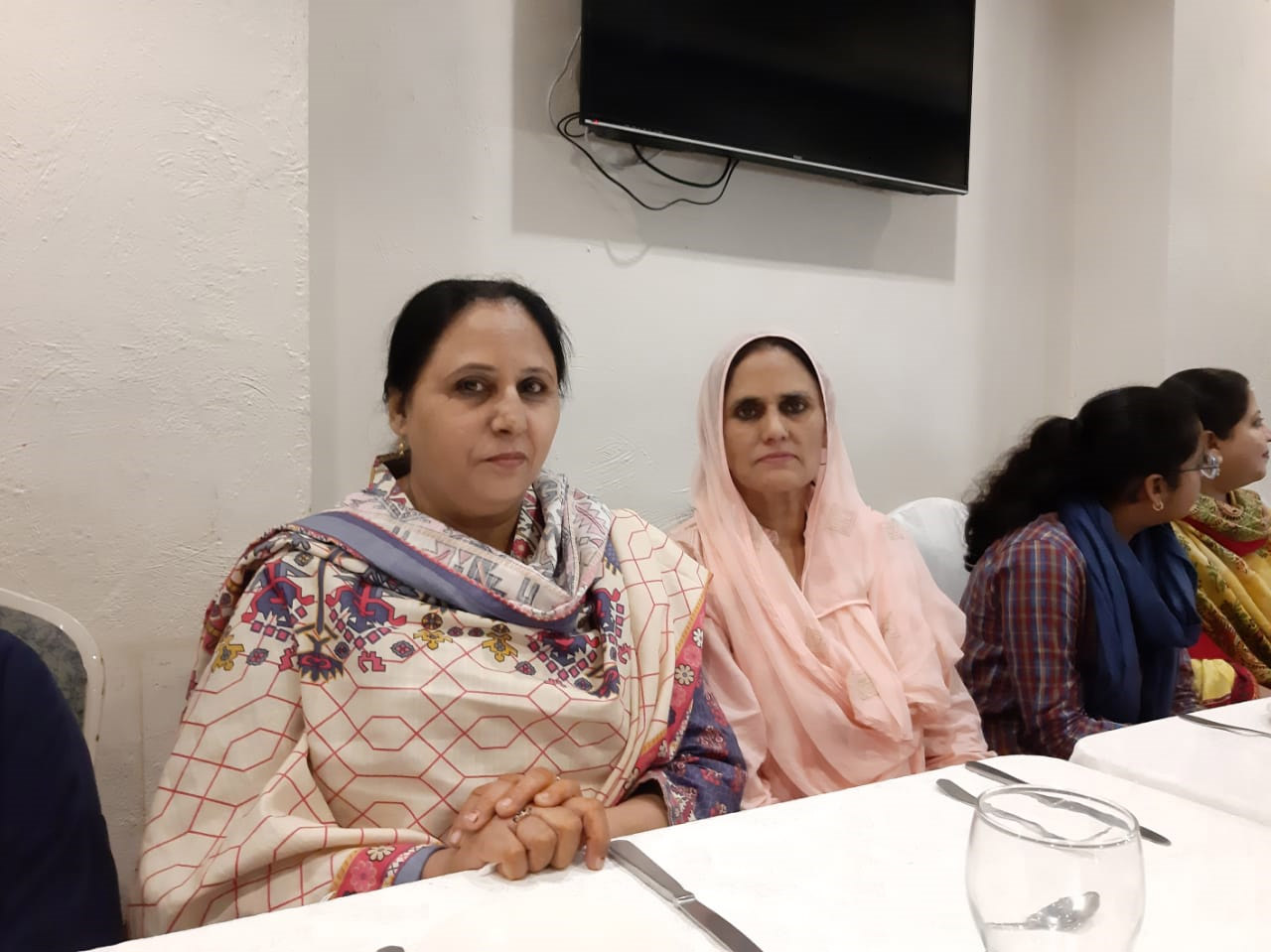 The two sisters Ghazala Khanam and Rudaba Irshad
