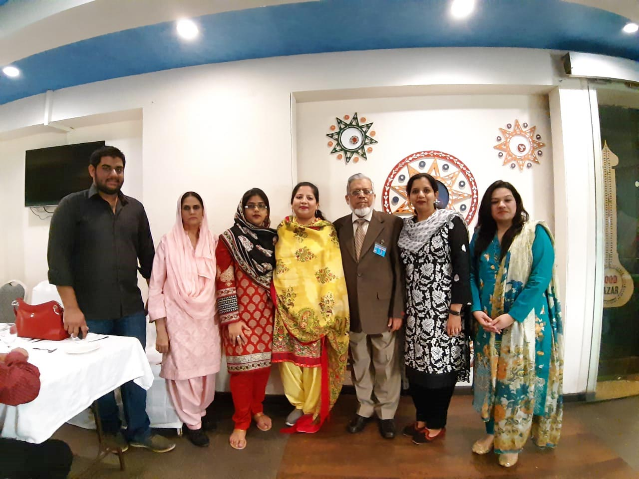 Engr. Taha Khan, Mrs. Rudaba Irshad, Bushra Irshad, Dr. Kiran A. Rehman, Engr. Iqbal A. Khan, Erum Imran, Faryal Khan