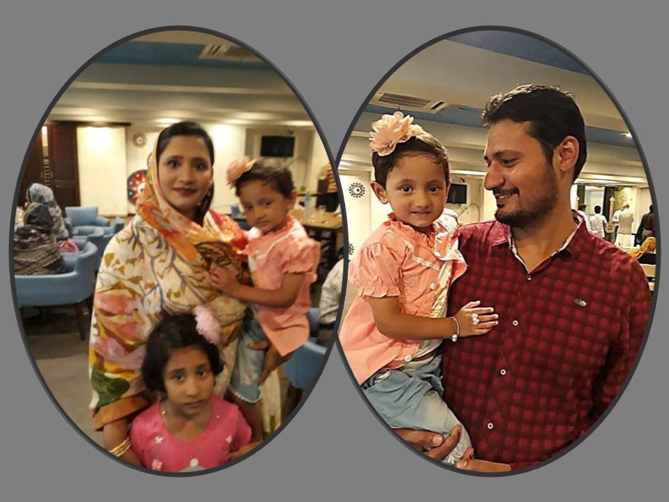 Mr. Muhammad Salim Hamid's son and daughter-in-law along with their kids