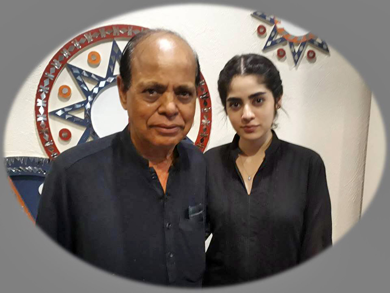 Mohammad Nafees Quraishi with his daughter Wardah Quraishi