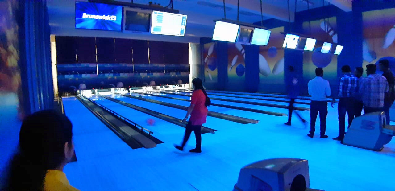 Zara Imran is busy playing in the Bowling Alley at the Arena Club Sports Facilities