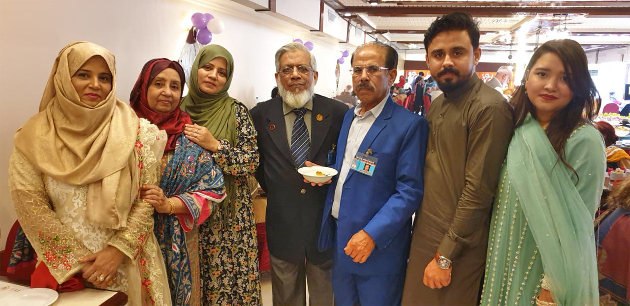 Mrs. Sajida Kashif, Mrs. Shahnaz Shafiq, Sumaira Rizwan, Engr. Iqbal A. Khan, Shabeel Khan and Sahrish Khan