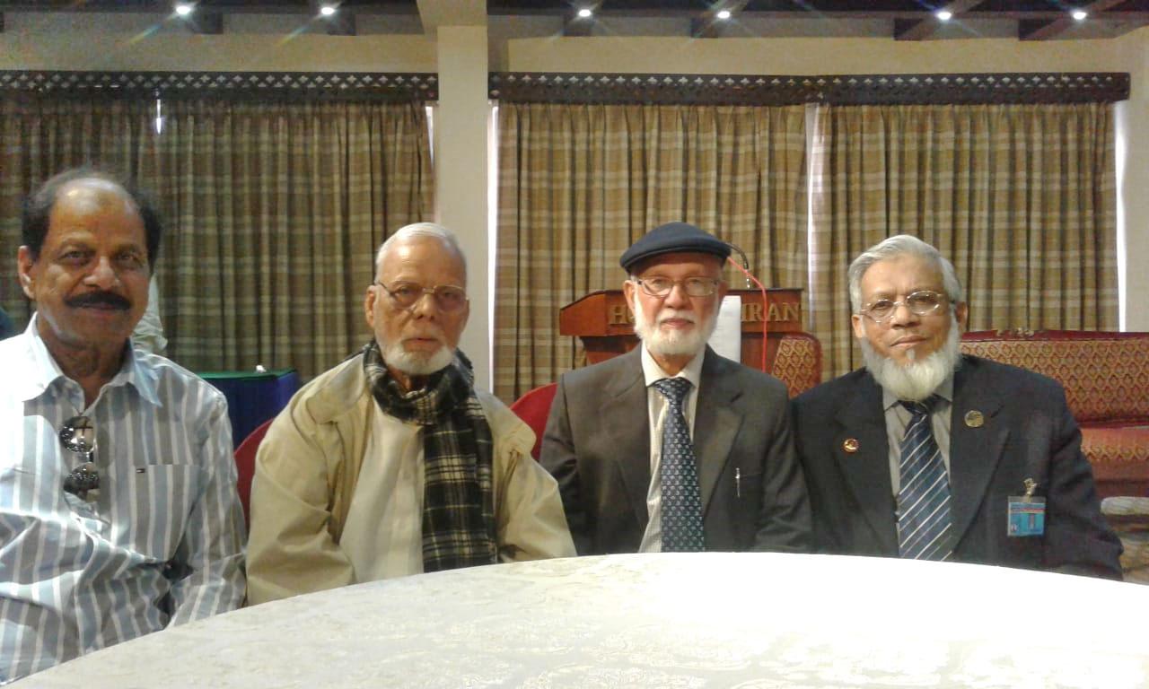 Iftikhar Baig, Saeed Rajput, Engr. Syed Waqar Fakhri and Engr. Iqbal Ahmed Khan