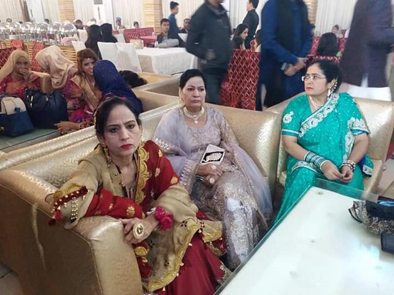 Nasreen Aziz, Naseem Begum and Farah Begum