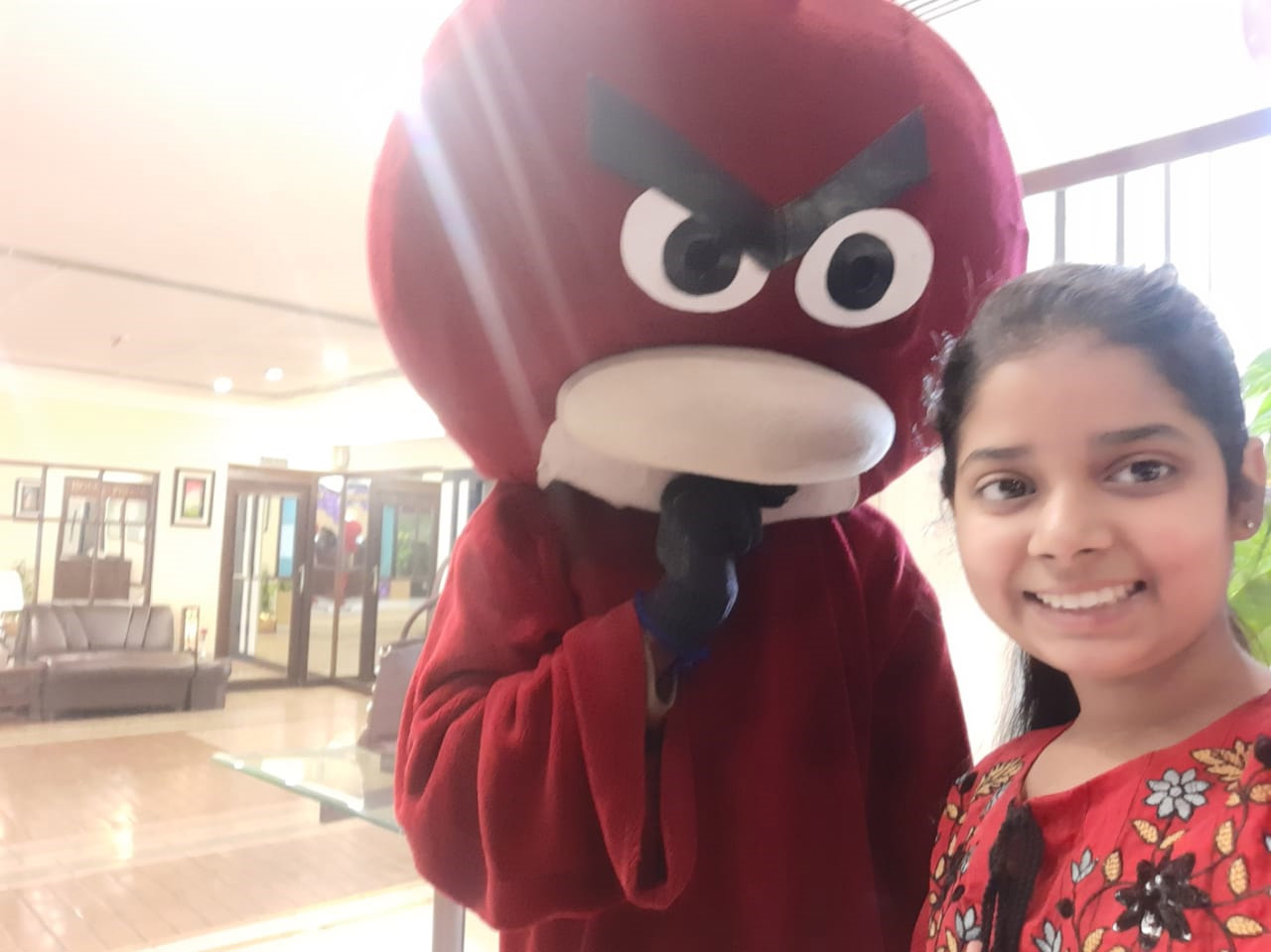 Zara Imran with Angry Bird
