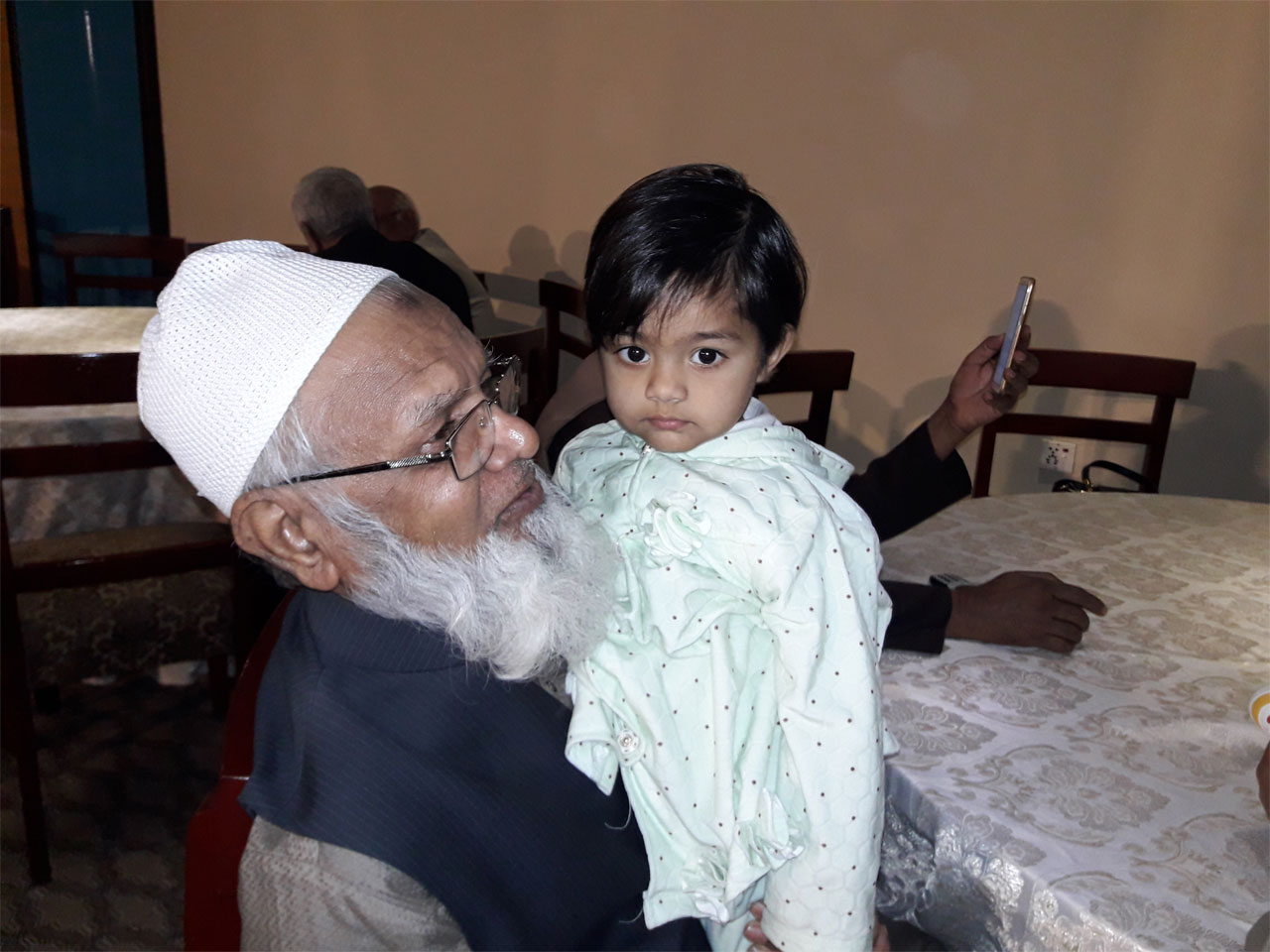 Atauddin Quraishi with his grand daughter