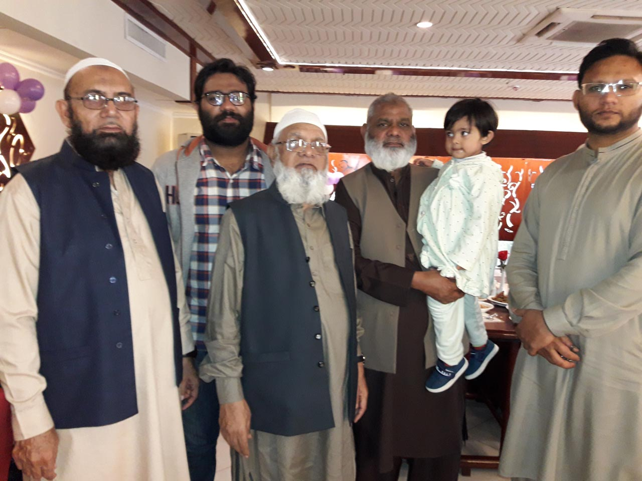Ilyas Khan, Munis Quraishi, Atauddin Quraishi, Khalil Quraishi with his grandson and Waqas Quraishi