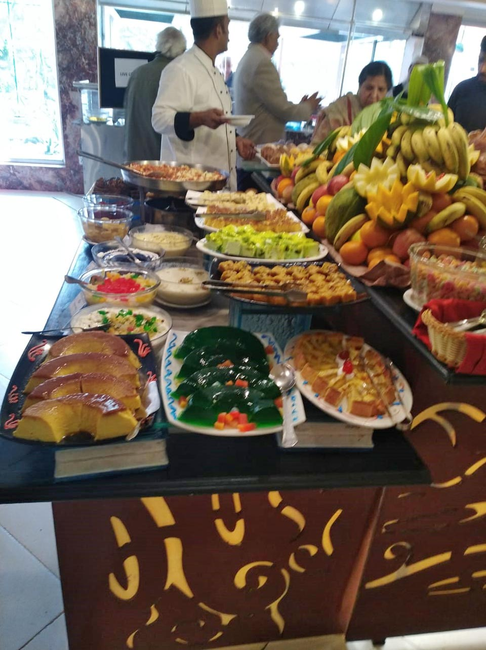 The dessert bar at the dining hall