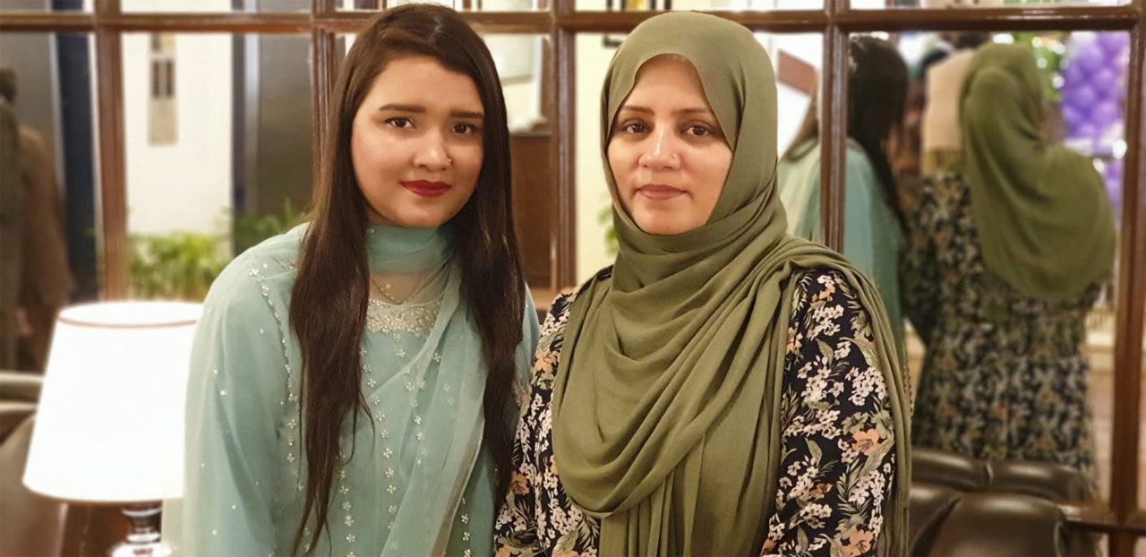 Sahrish Khan with Sumaira Rizwan