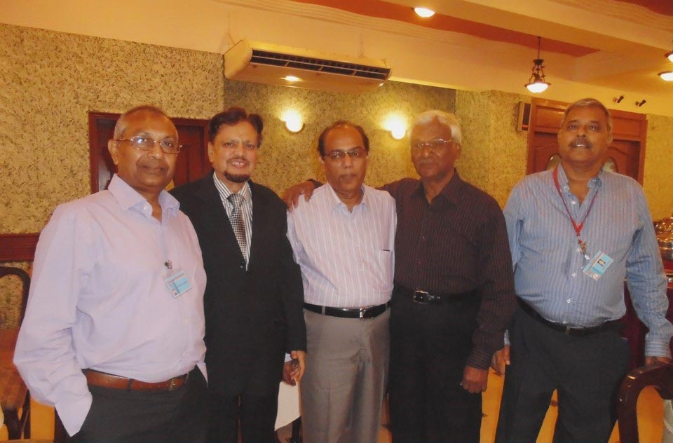 L to R: Qamar A. Khan, Mir Hidayatullah, Abdul Sattar, Ahsand Ahmed and Arif Qamar