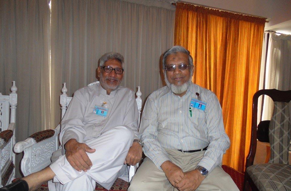 L to R: Salim Hamid and Iqbal A. Khan