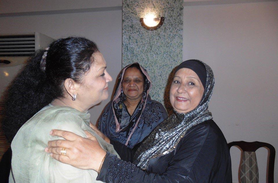 L to R: Mrs. Rahat Hussain, Mrs. G. Qutubuddin Khan and Mrs. Shafiq A. Khan